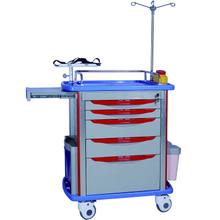 HS-ET01 Hospital medical ABS emergency cart trolley